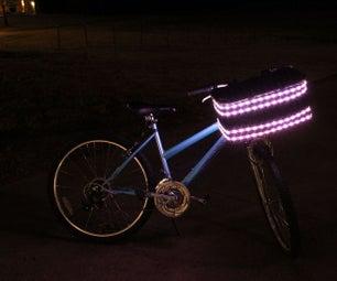 亮灯自行车篮