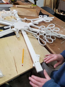 Attaching the Neon Flex Snowflake to the Support