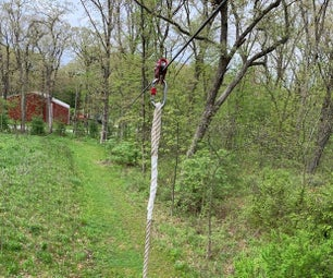 Extreme Backyard Zipline