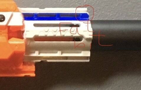 Picture of Recon/retaliator Barrel Marking and Cutting.
