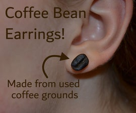 Coffee Earrings (Made From Used Coffee Grounds)