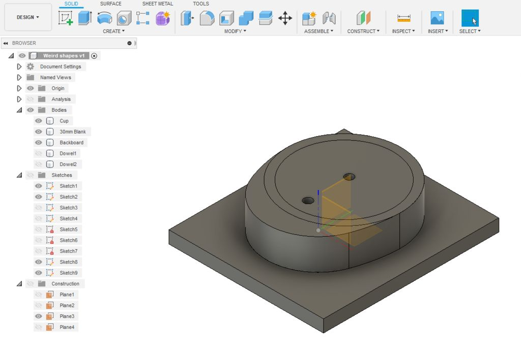 Picture of 3D Machine Top Side of Body