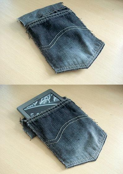 Denim Kindle Sleeve