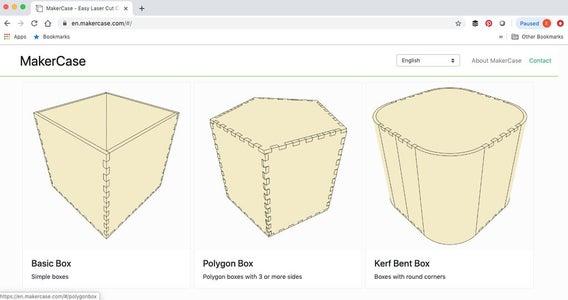 Polygon Box With MakerCase