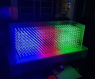 8x24x8 RED GREEN BLUE LED CUBE
