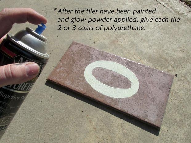 Making the Tiles- Adding the Glow Powder