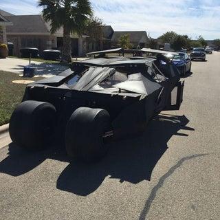 Make a Life-sized Batmobile Tumbler and Batman Themed Halloween Display