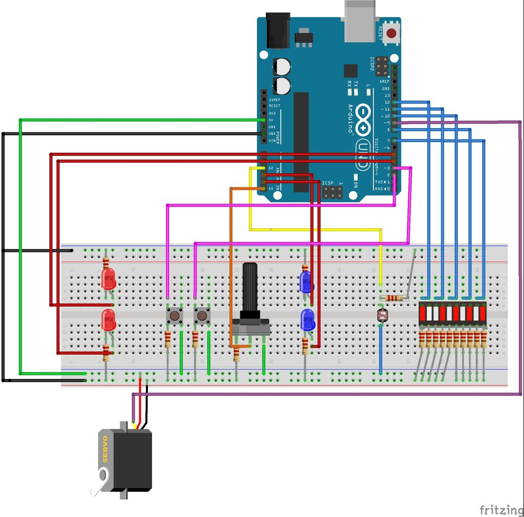 Picture of Weldging the Circuit Board Following the Circuit Diagram