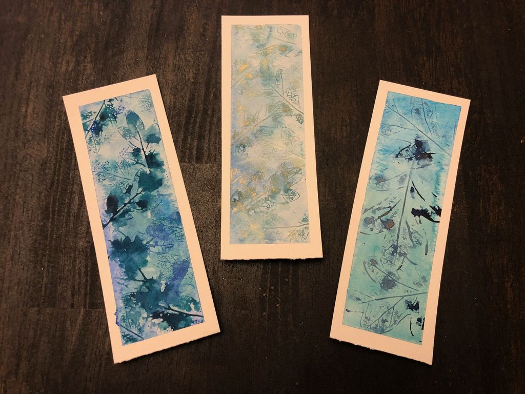 Picture of Watercolor Leaf Print Bookmarks