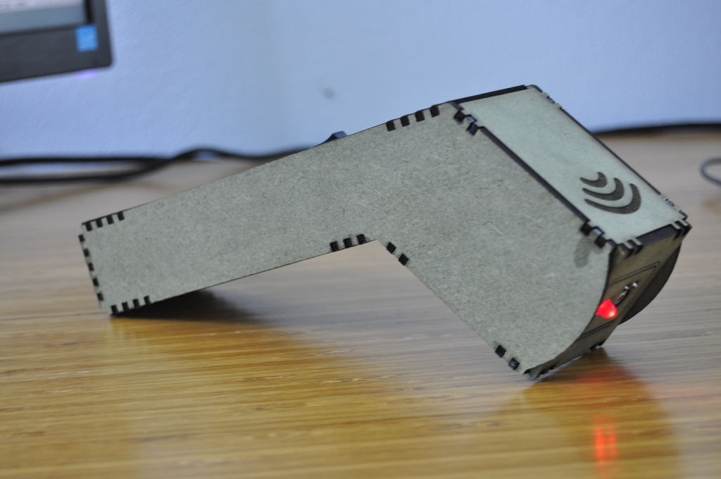 Picture of Arduino Infrared Thermometer Gun MDF Case