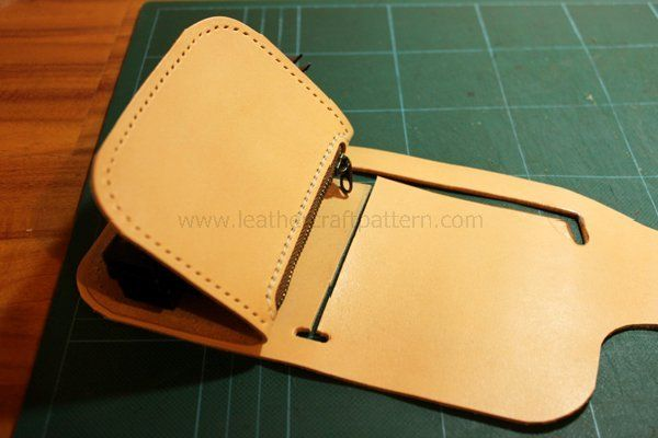 Picture of Sew Coin Case on Lining.