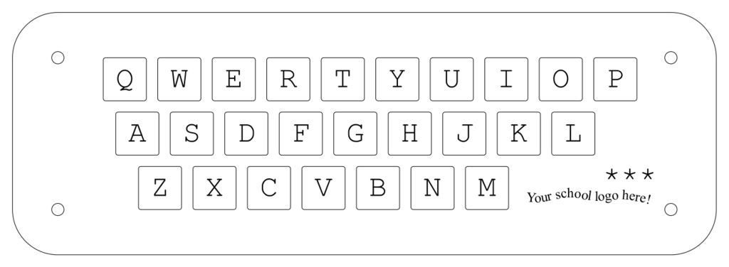 Picture of Design of the Keyboard Puzzle Layout