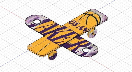 Lakers Fly Skateboard