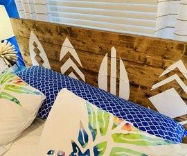 如何使一个惊人的冲浪板床头板,只需几个工具