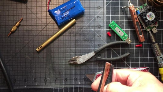 Cut the Rest of the Insulation of Wire and Slide Into the Copper Tube, Then Solder