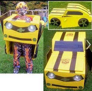 Transforming cardboard car or truck