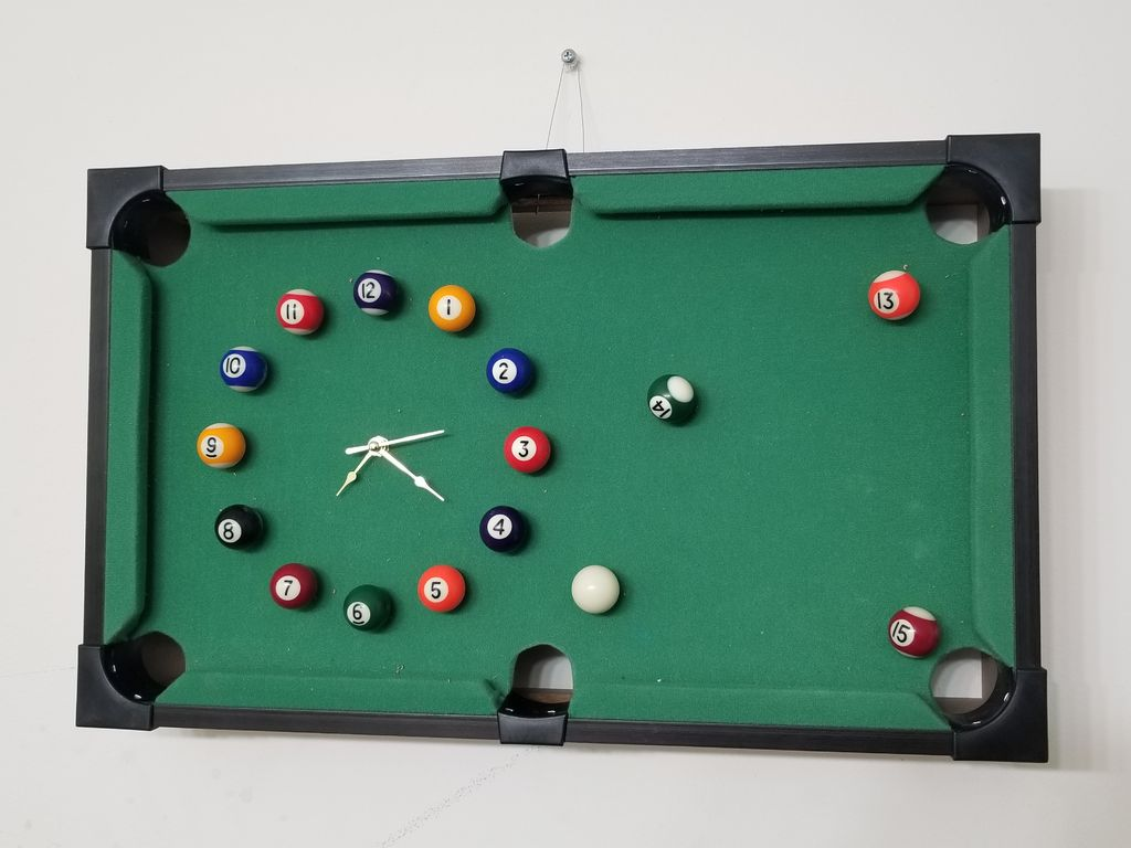Picture of EASY DIY POOL TABLE CLOCK