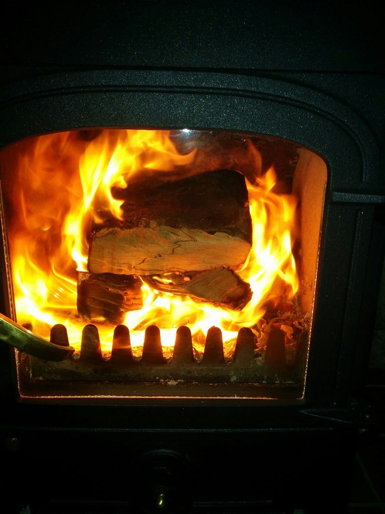 Picture of Easy Woodburner Lighting Technique. No Kindling, No Firelighters.