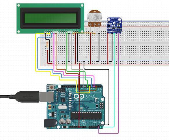 Interfacing BMP280 Pressure Sensor Module With Arduino