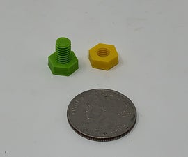 "The ""Nuts and Bolts"" of How I Design, 3D Print and Prepare Nuts and Bolts."