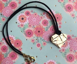 Bronze Heart Necklace   Collier-un-bronze