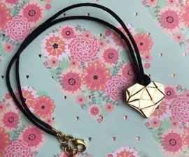 青铜心形项链 科利尔-UN-青铜