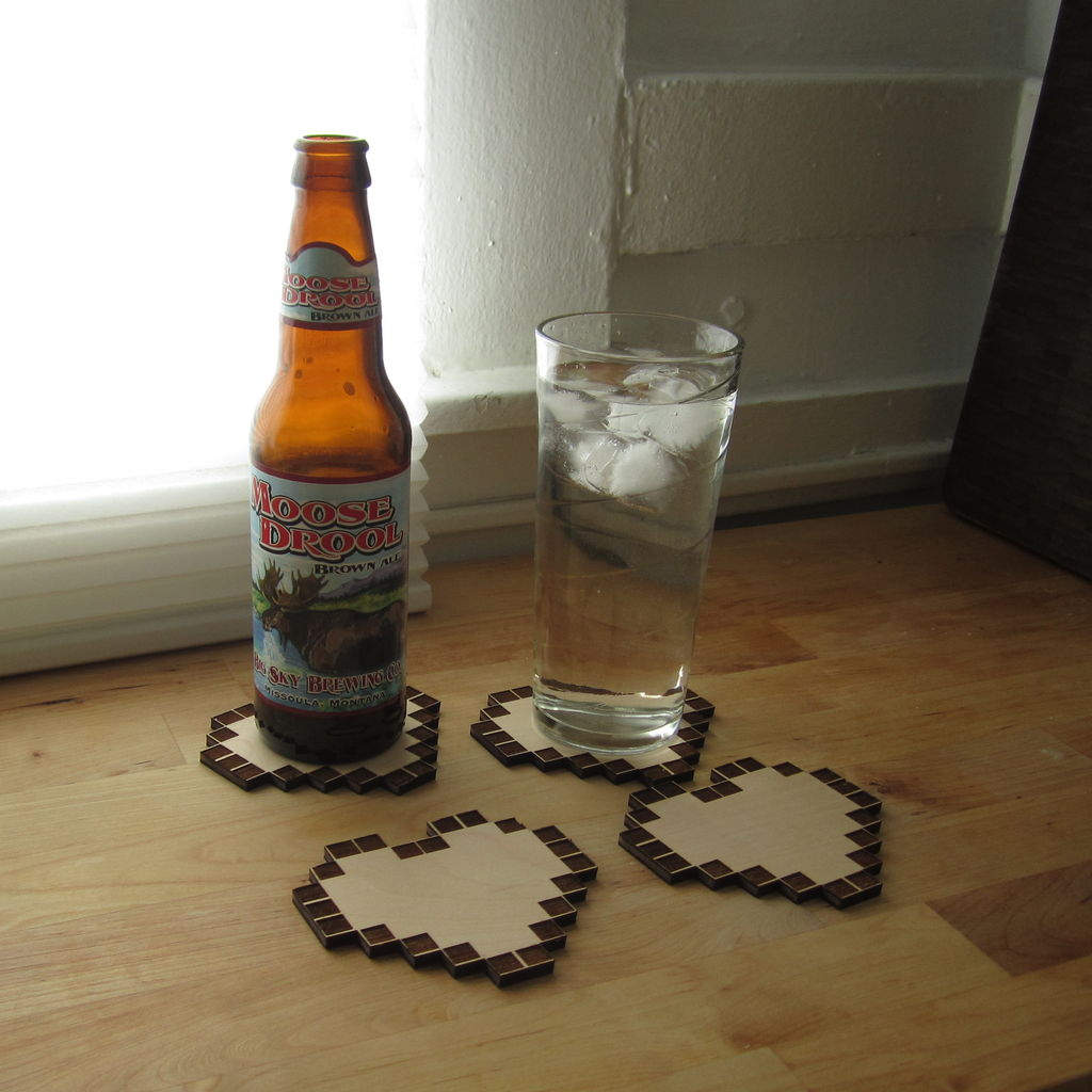 Picture of Legend of Zelda Heart Container Coasters