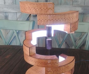 Wooden Coil Spring Lamp