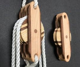 功能性和装饰性的木块和滑车