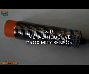 Visuino How to Use Inductive Proximity Sensor