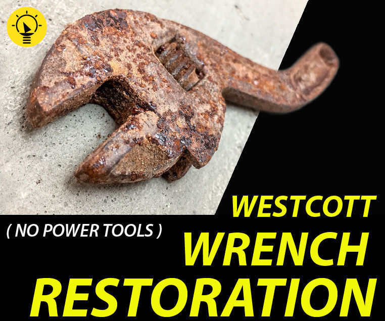 Rusty Adjustable Wrench Restoration | Westcott U.S.A
