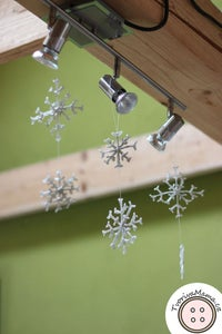 Attaching Thread to Snowflakes + Making Flat Side Round