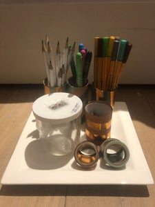 How to Make a Pencil Holder With Sharpener