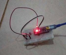 控制内置LED使用按钮与Arduino Nano