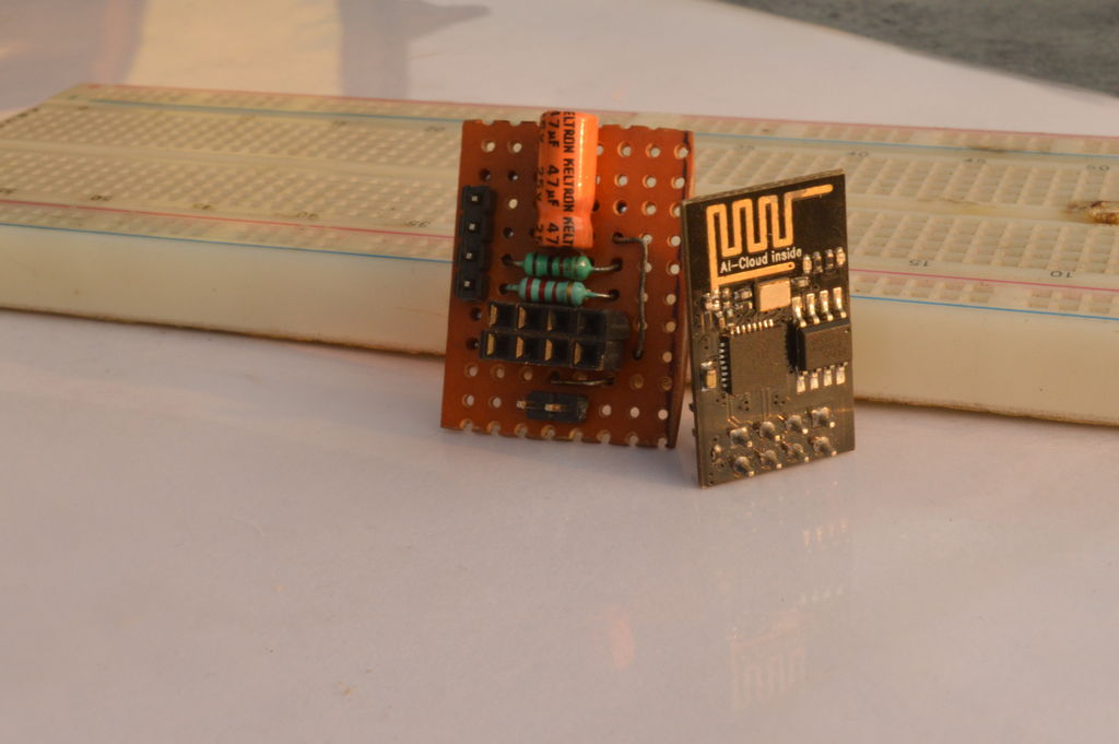 Picture of Breadboard Friendly Breakout Board for ESP8266-01 With Voltage Regulator