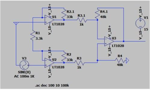 Create the Instrumentation Amplifier