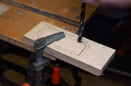 Cut the and Drill Wooden Pieces