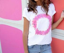 甜甜圈扎染t恤