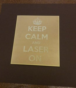 KEEP CALM AND LASER ON