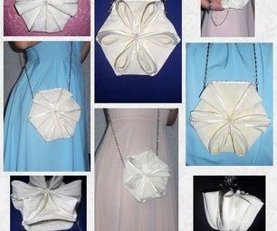 Convertible Fabric Purse / Shoulder Bag / Wristlet / Pouch / Minaudière