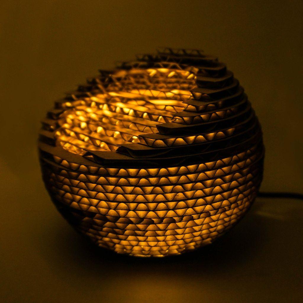 Picture of Cardboard Deskop Lamp