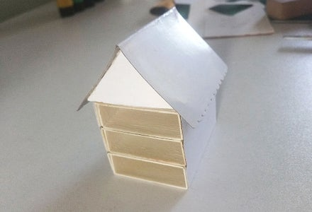 Measure, Cut the Roof and Glue It in Place