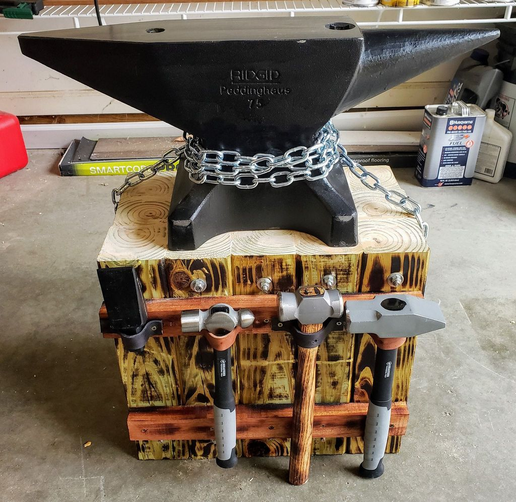 Picture of Custom Anvil Stand - No Welding Required