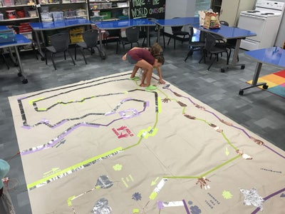 Connect Pathways With Conductive Tape and Insulate With Masking Tape