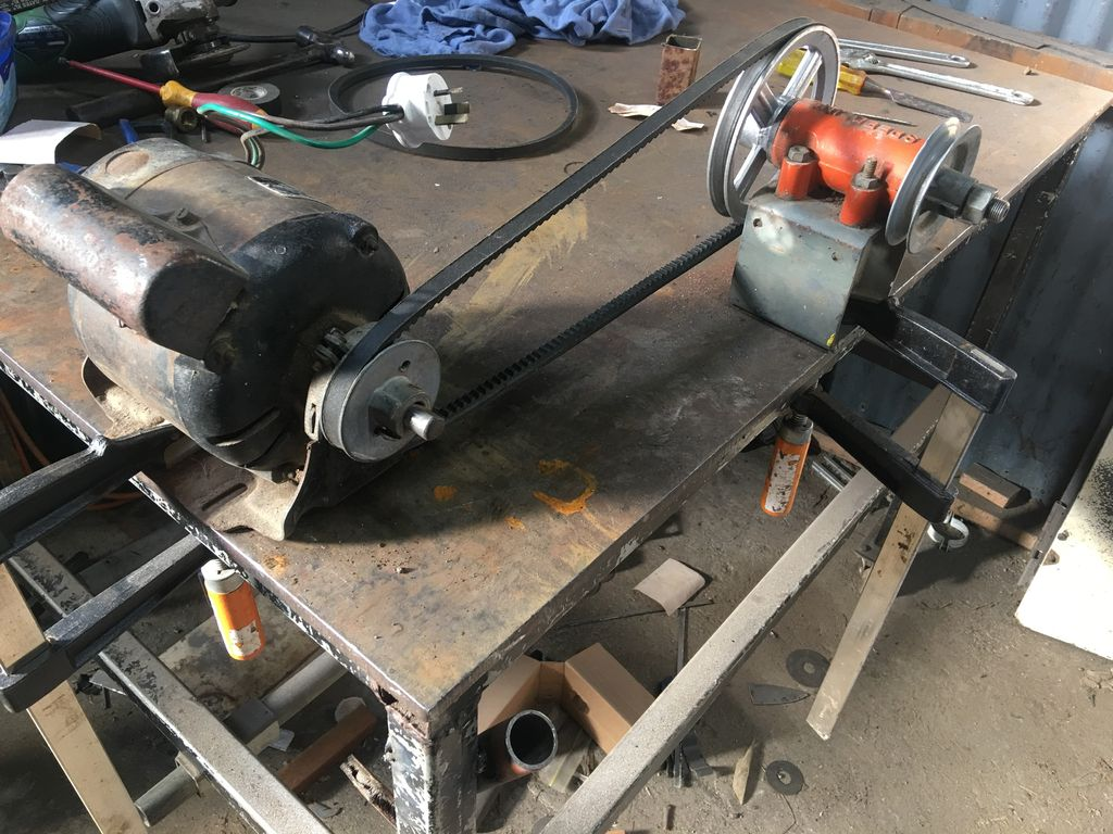 Picture of Mounting the Motor and Vee Pulley