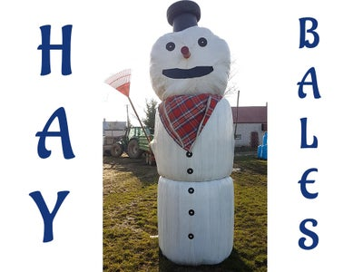 Hay Bale Man / Snowman