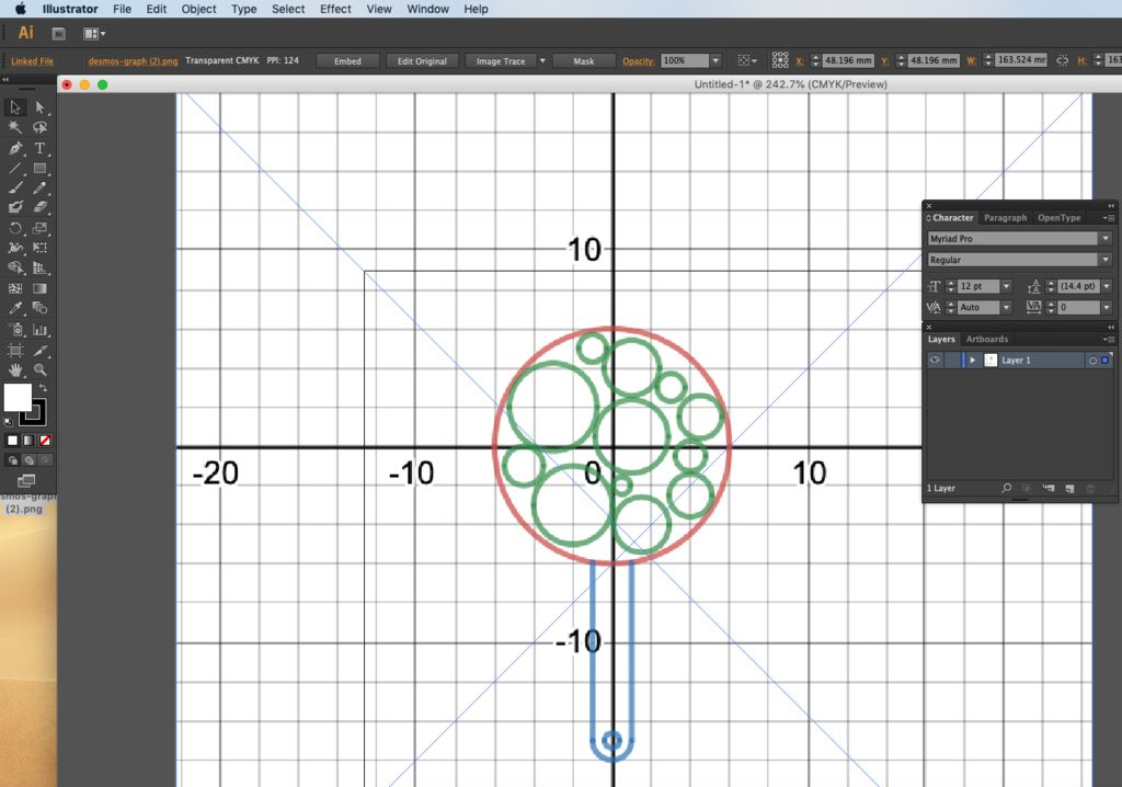 Picture of Place Desmos Drawing to Vector Program