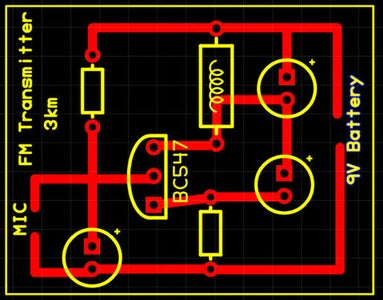 PCB Layout for the FM Transmitter