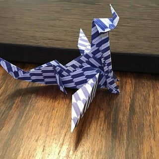 Simple Origami Dragon