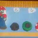 Mario, Mushroom, Goomba, and Tube Cakes